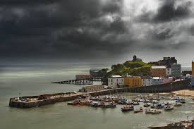 Stormy harbour